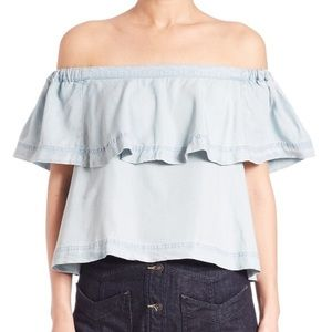 FP Chambray Off-The-Shoulder Top 💙 OFFERS WELCOME